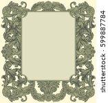 victorian baroque floral... | Shutterstock .eps vector #599887784