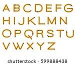 alphabet pencil | Shutterstock .eps vector #599888438