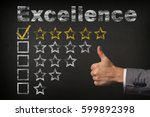 excellence five 5 star rating....   Shutterstock . vector #599892398