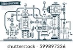 complex mechanism with... | Shutterstock .eps vector #599897336