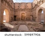 el badi palace is a ruined... | Shutterstock . vector #599897906