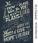 for i know the plans i have for ... | Shutterstock .eps vector #599901710