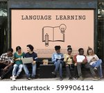 language learning mastering... | Shutterstock . vector #599906114