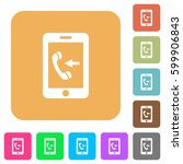 incoming mobile call flat icons ... | Shutterstock .eps vector #599906843