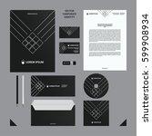 corporate identity business...   Shutterstock .eps vector #599908934