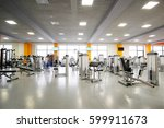 interior of a fitness hall | Shutterstock . vector #599911673