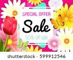 spring. sale. spring card. | Shutterstock .eps vector #599912546