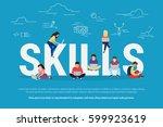 skills development concept...   Shutterstock .eps vector #599923619