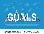 goals achievement concept... | Shutterstock .eps vector #599923628