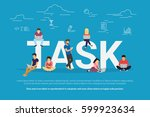 tasks concept vector...   Shutterstock .eps vector #599923634