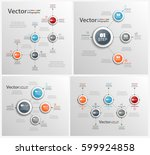 set of  colorful abstract... | Shutterstock .eps vector #599924858