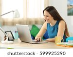 single student searching... | Shutterstock . vector #599925290