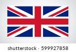 flag of united kingdom. | Shutterstock .eps vector #599927858