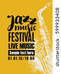 template poster for jazz... | Shutterstock .eps vector #599933408