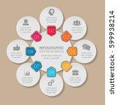 vector infographic template  8... | Shutterstock .eps vector #599938214