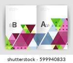modern business brochure or... | Shutterstock .eps vector #599940833