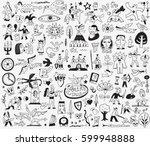 fairy tale doodles | Shutterstock .eps vector #599948888
