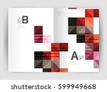 modern minimalistic geometrical ... | Shutterstock .eps vector #599949668
