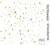gold confetti celebration ... | Shutterstock .eps vector #599956256