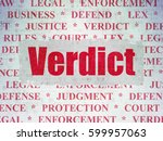 law concept  painted red text... | Shutterstock . vector #599957063