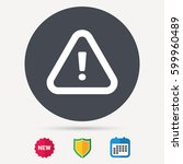 warning icon. attention... | Shutterstock .eps vector #599960489