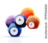 shiny style modern geometrical... | Shutterstock .eps vector #599960600
