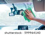 hand cleaning the car interior... | Shutterstock . vector #599964140