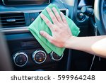 hand cleaning the car interior... | Shutterstock . vector #599964248