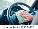 hand cleaning the car interior... | Shutterstock . vector #599964428