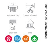 bank credit card  expired card... | Shutterstock .eps vector #599965280