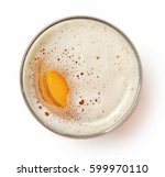 glass of beer isolated on white ... | Shutterstock . vector #599970110