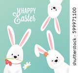 happy easter vector design ... | Shutterstock .eps vector #599971100