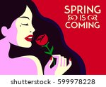 spring is coming  beautiful... | Shutterstock .eps vector #599978228