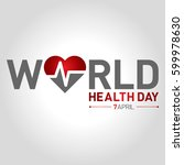 world health day | Shutterstock .eps vector #599978630