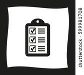 checklist    black vector icon | Shutterstock .eps vector #599981708
