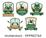 hunting club icons. hunter... | Shutterstock .eps vector #599982764