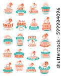summer holidays icons set. sea... | Shutterstock .eps vector #599984096