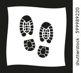 shoe print    black vector icon | Shutterstock .eps vector #599989220
