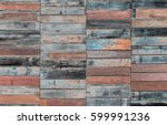 painted wooden plank background.... | Shutterstock . vector #599991236