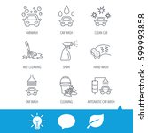 car wash icons. automatic... | Shutterstock .eps vector #599993858