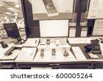 blurred variety of modern smart ... | Shutterstock . vector #600005264