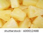 pineapple slices as background. ... | Shutterstock . vector #600012488
