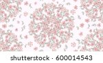 simple cute pattern in small... | Shutterstock .eps vector #600014543