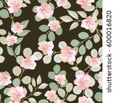 seamless floral pattern of... | Shutterstock .eps vector #600016820