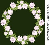 floral round frames from cute... | Shutterstock .eps vector #600017786