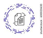 data transfer between files... | Shutterstock .eps vector #600020630
