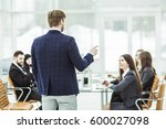 senior manager of the company...   Shutterstock . vector #600027098