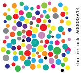 the colorful circles abstract... | Shutterstock .eps vector #600033614