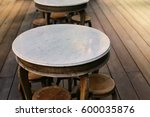 wooden table with marble on top ... | Shutterstock . vector #600035876