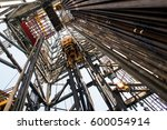 a drilling rig in oil and gas... | Shutterstock . vector #600054914